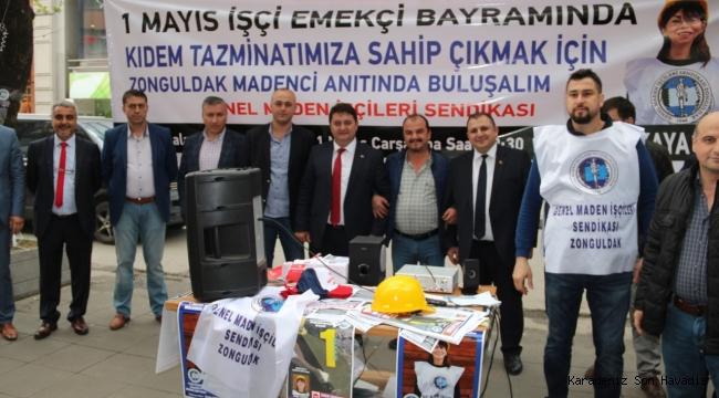 GMİS GAZİPAŞADA 1 MAYIS'A DAVET STANDI AÇTI