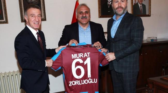 Trabzonspor Yönetiminden Başkan Zorluoğlu'na Ziyaret