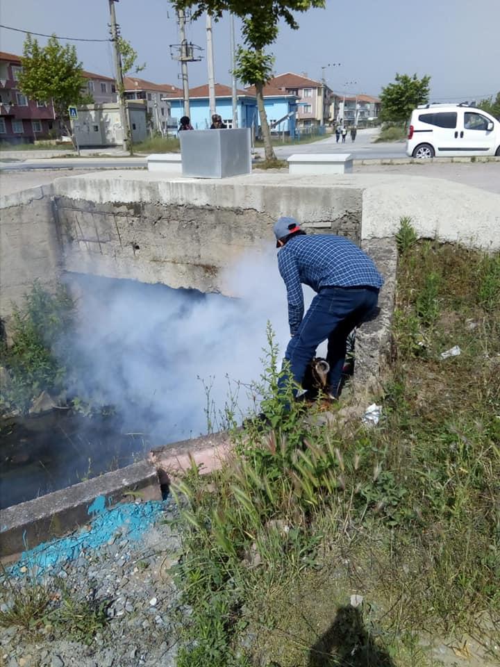 """""""Karasu'da İlaçlama Çalışmaları Sürüyor"""""""