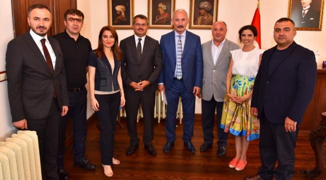 Azerbaycan Büyükelçisi İbrahim'den, Ataman'a ziyaret