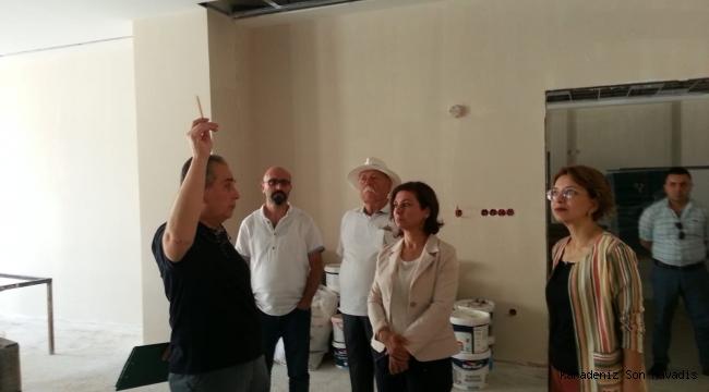 Başkan Köse, Kültür Merkezinde İncelemelerde Bulundu