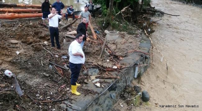 Başkan Yanmaz Sel Felaketinin Yol Açtığı Hasarlı Yerleri İnceledi