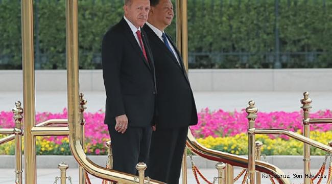 Cumhurbaşkanı Erdoğan, Çin Büyük Halk Meclisi'nde resmî törenle karşılandı