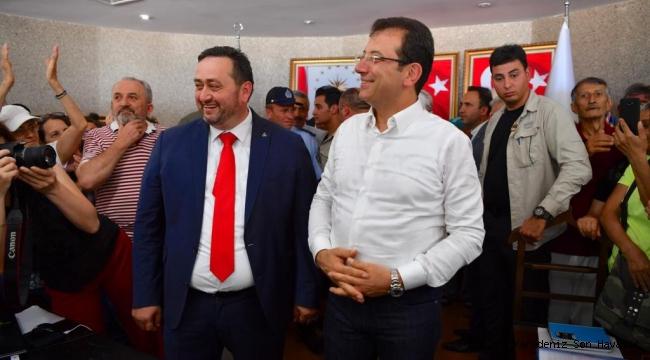 İmamoğlu, Akçakoca'nın MHP'li Belediye Başkanı Yanmaz'ı tebrik etti