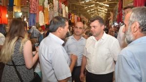 Başkan Sarı Pazaryeri Esnafını Ziyaret Etti