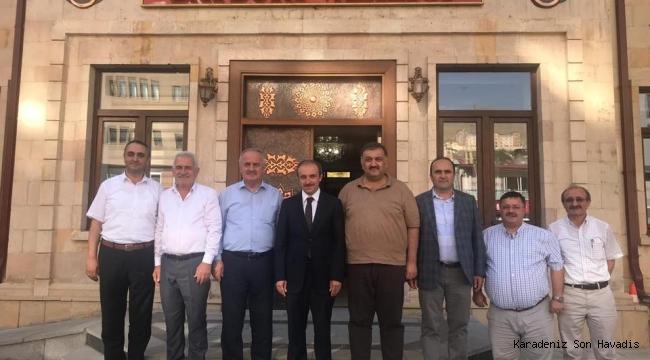 Hasan Karal'dan Vali Epcim'e ziyaret.
