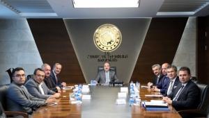 OSBÜK Yönetiminden, Bakan Varank ve Yardımcılarına ziyaret
