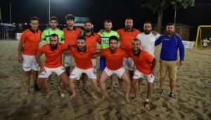 Plaj Futbolunda Kupa Dülger Pansiyonun