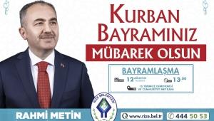 Rize Belediye Başkanı Rahmi Metin'in Kurban Bayramı Mesajı