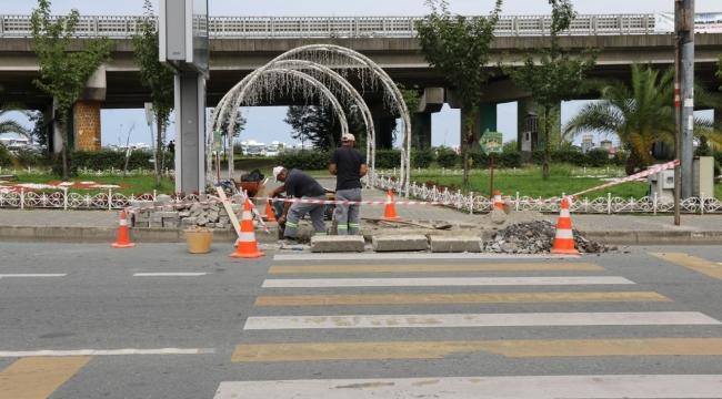 Rize'de Viyadük Altlarındaki Yaya Yollarına Bakım