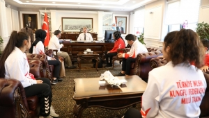 Wushu Kungfu Şampiyonlardan, Palancıoğlu'na ziyaret