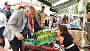 Başkan Zorluoğlu Kiraçhane köylü pazarını gezdi