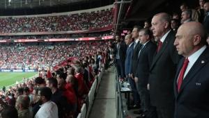 Cumhurbaşkanı Erdoğan, Türkiye-Andorra millî maçını izledi