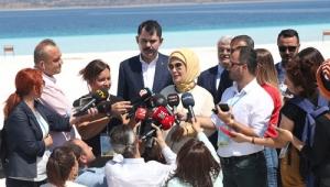 Emine Erdoğan, Salda Gölü'nü ziyaret etti