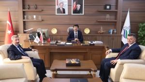 """""""Mercan ve Sarı'dan Rektör Sarıbıyık'a Ziyaret"""""""