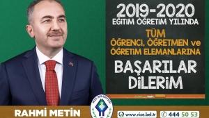 Rahmi Metin'den, 2019-2020 Eğitim Öğretim Yılı Mesajı