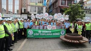 Rize Belediyesi'nden çöp toplama etkinliği