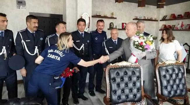 Zabıta Teşkilatından, Kaymakam Çorumluoğlu'na ziyaret