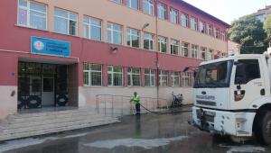 Okul çevrelerinde temizlik seferberliği başlatıldı...