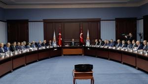 AK Parti Genel Başkanıve CumhurbaşkanıErdoğan, Büyükşehir ve il Belediye Başkanlarınahitap etti