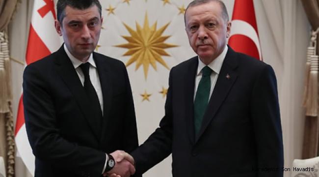 Cumhurbaşkanı Erdoğan, Gürcistan Başbakanı Gakharia ile görüştü