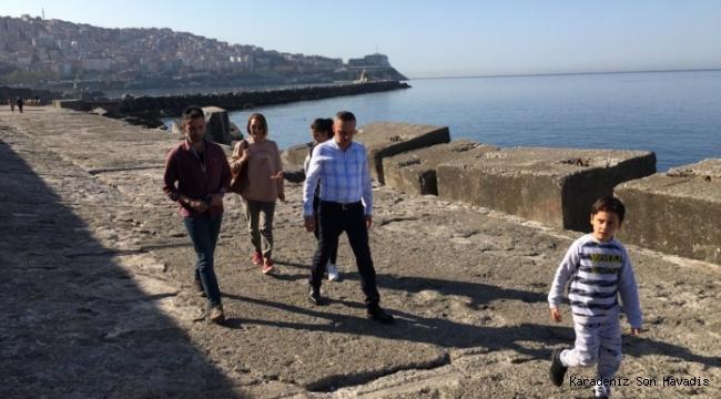 Başkan Alan, Liman Arkası'nda incelemelerde bulundu