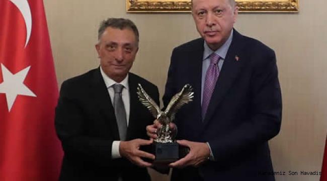 Cumhurbaşkanı Erdoğan, BJK Başkanı Çebi ve Yönetim Kurulu Üyelerini kabul etti