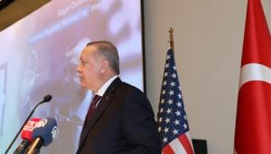 Cumhurbaşkanı Erdoğan, Diyanet Amerika Merkezi'nde Türk-Amerikan toplumu ile bir araya geldi