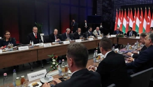 Cumhurbaşkanı Erdoğan, Macar ve Türk iş insanlarıyla bir araya geldi
