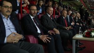Cumhurbaşkanı Erdoğan, Türkiye-İzlanda maçını izledi