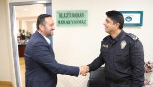 İlçe Emniyet Müdüründen Başkan Yanmaz'a ziyaret