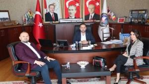 İş dünyasından, başkan Yanmaz'a ziyaret