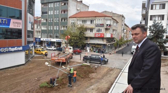 """""""Karasu'da Yol ve Çevre Düzenleme Çalışmaları Hız Kesmeden Devam Ediyor"""""""