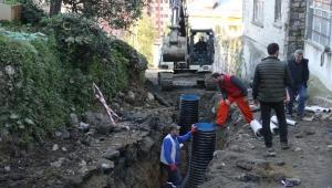 Rize'de altyapı çalışmaları devam ediyor