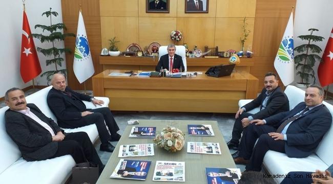 Anadolu Yayıncılar Derneğinden Başkan Ekrem Yüce'ye ziyaret.