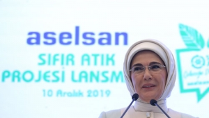 Emine Erdoğan, ASELSAN Sıfır Atık Projesi Lansman Töreni'ne katıldı
