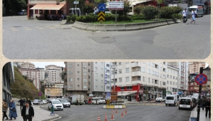 Rize'de trafiği rahatlatan düzenleme