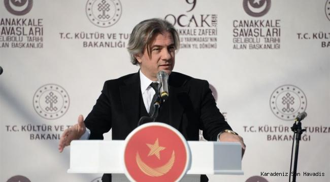 Bakan Yardımcısı Ahmet Misbah Demircan Çanakkale'de düzenlenen törene katıldı.