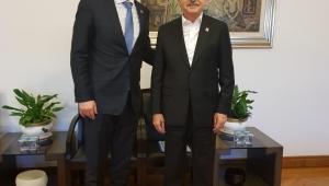CHP İlçe Başkanı Ertuğrul'dan, Genel Başkan Kılıçtaroğlu'na ziyaret