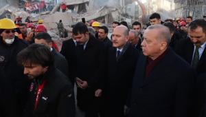 Cumhurbaşkanı Erdoğan, Elazığ'da incelemelerde bulundu