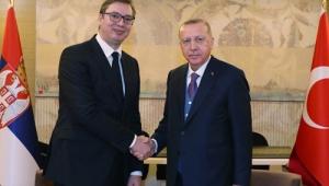 Cumhurbaşkanı Erdoğan, Sırbistan Cumhurbaşkanı Vuçiç ile görüştü