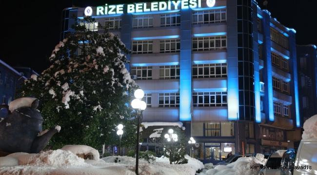 Rize Belediyesinden Yoğun Kar Yağışı Uyarısı