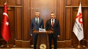 Vali Erdoğan Bektaş Samsun lojistik merkezinde incelemelerde bulundu
