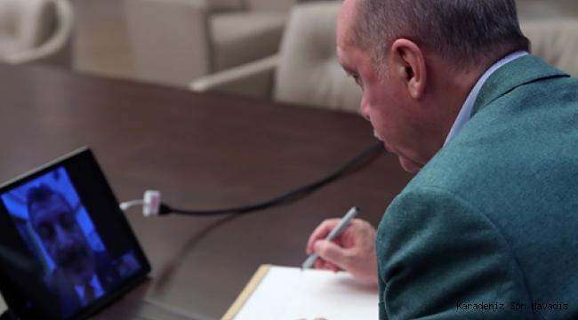 Erdoğan, Cumhurbaşkanlığı Kabinesi ile video konferans aracılığıyla görüştü