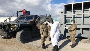 Hudut Birliklerimiz Koronavirüs'e Karşı Koruyucu Elbise, Eldiven ve Maske ile Teçhiz Edildi