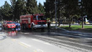 Sakarya'da meydan ve caddeler yıkanıyor