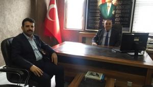 AK Parti İlçe Başkanı Çakır'dan Milli Eğitim Müdürü Aksoy'a ziyaret
