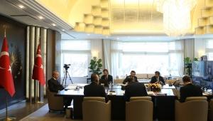 """Cumhurbaşkanı Erdoğan, Türk Konseyi'nin """"COVID-19'la Mücadele ve İş Birliği"""" konulu zirvesine katıldı"""