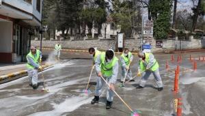 Safranbolu Belediyesi Dezenfektasyon Çalışmaları Hız Kesmeden Devam Ediyor