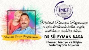 DR. SÜLEYMAN BASA RAMAZAN BAYRAMI MESAJI